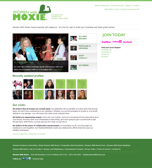 Women With Moxie website