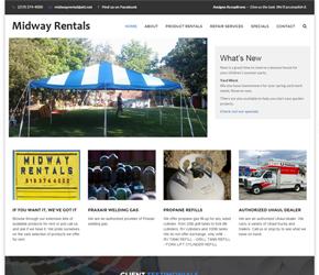 Midway Rentals website